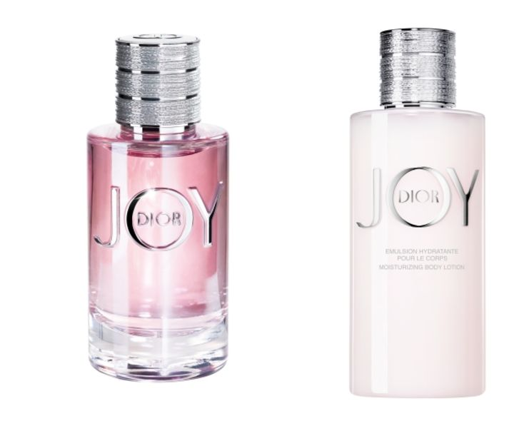 JOY by Dior香薰 $660/30ml; $930/50ml; $1,350/90mlJOY by Dior Moisturizing Body Lotion身體修護乳液 $490/200ml資