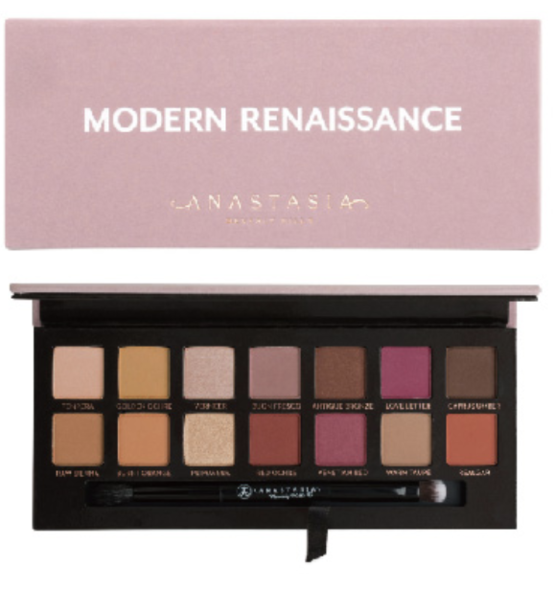 Anastasia Beverly Hills Modern Renaissance Eye Shadow Palette (USD $42 )一盒有齊14種顏色,充滿浪漫感覺的乾燥玫瑰色