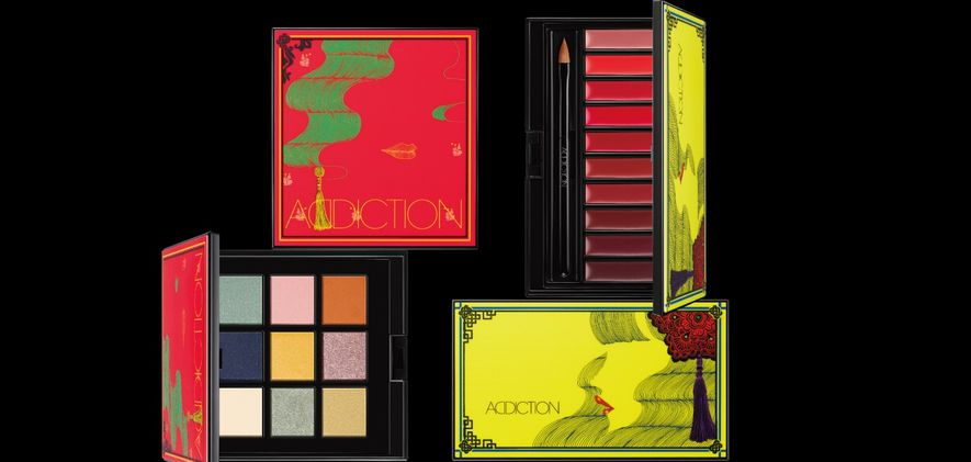 AYAKO聯乘插畫家Hiroshi Tanabe為 COMPACT ADDICTION CHINOISERIE Last Emperor 9色眼影組合及ROUGE COMPACT ADDICTION EMPRESS ORCHID 10色唇膏
