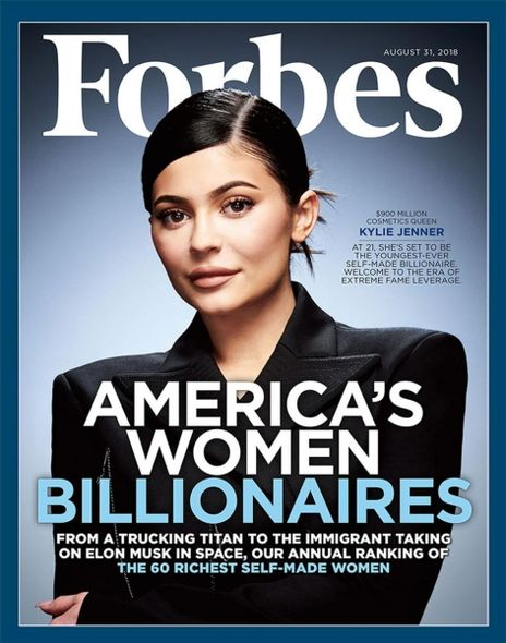 Kylie Jenner早前登上了《Forbes》封面