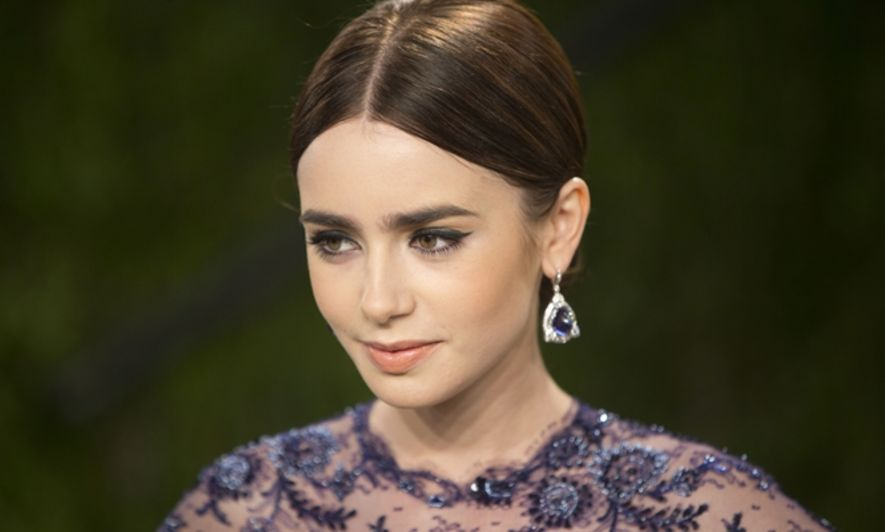 Lily Collins, 眉型