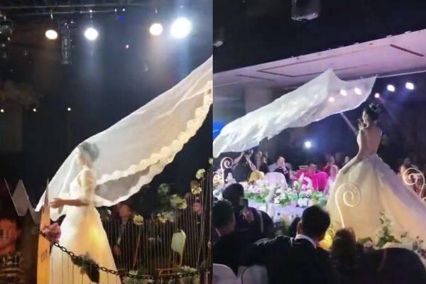 飛天, 頭紗, 新娘, 婚禮, 結婚, 婚紗, 中國