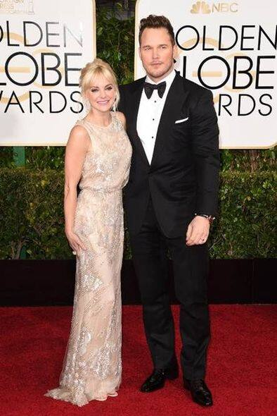 Anna Faris 與丈夫 Chris Pratt