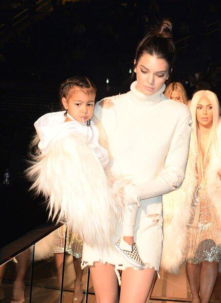 Harper Beckham, David Beckham, North West, Kim Kardashian