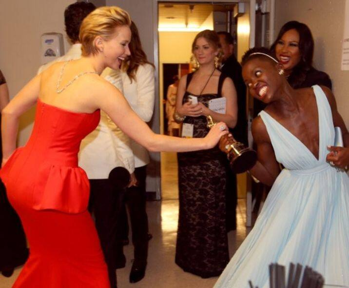 Jennifer Lawrence 與 Lupita Nyong'o
