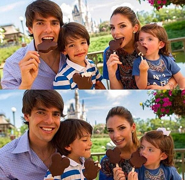 Ricardo Izecson dos Santos Leite family photo