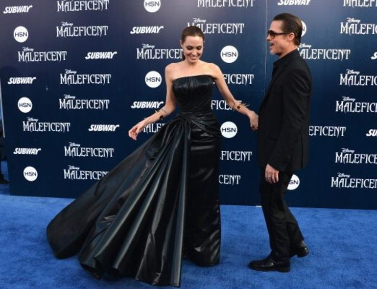 Maleficent Movie Premiere Angelina Jolie Brad Pitt