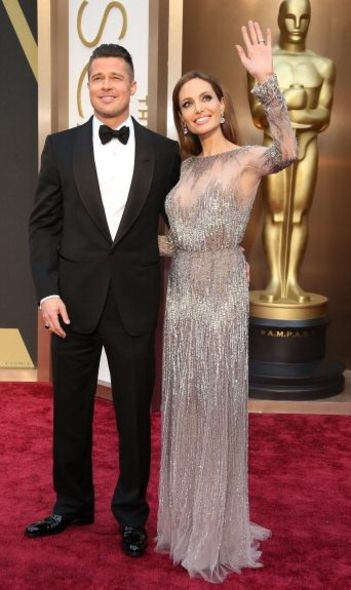 Angelina Jolie And Brad Pitt At Oscars