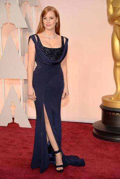 Jessica Chastain in Givenchy & Piaget