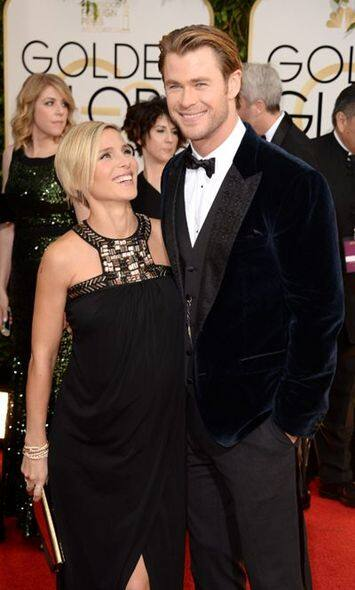 雷神Chris Hemsworth 與太太Elsa Pataky