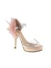 Feather heel transparent shoe pink