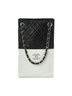 small two colors quilted shopping bag white black