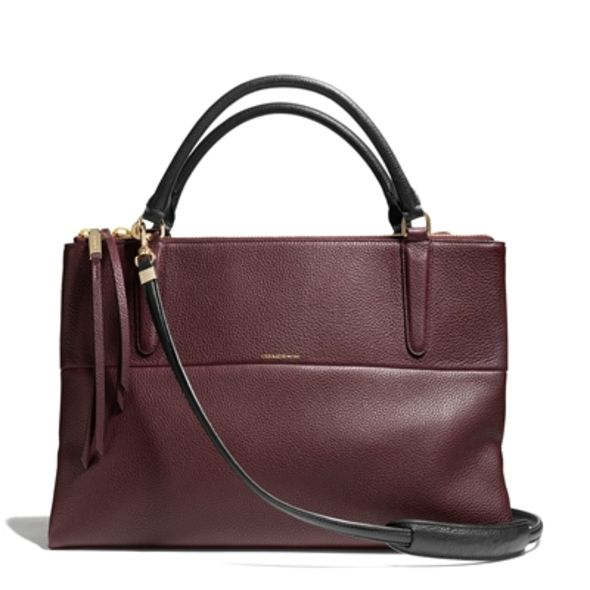 Pebbled Borough in Oxblood (Medium Size) $5,750