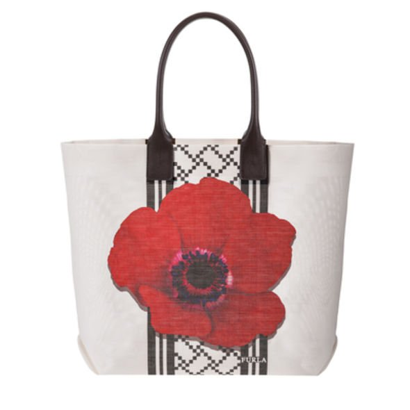 Furla summer tote bag, 手挽袋, 罌粟花