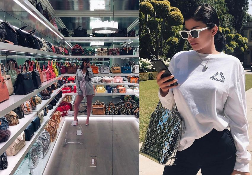 Kylie Jenner, Kardashian, 手袋, 衣櫥, Gucci, Chanel, Hermes, Louis Vuitton, Hermes, Birkin