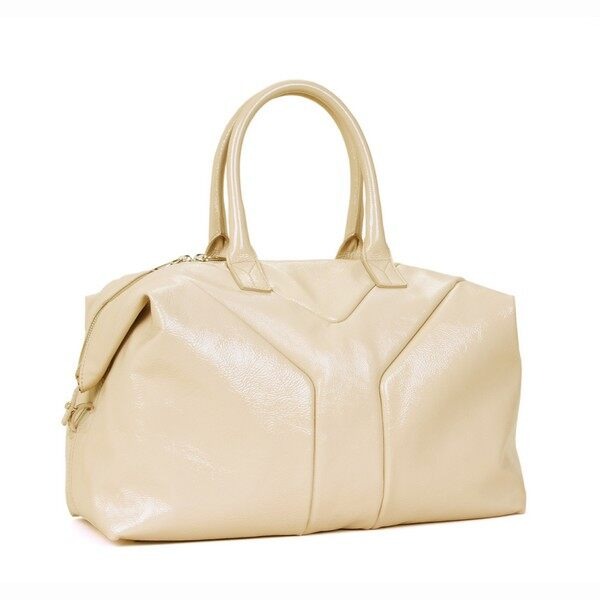 ELLE.com.hk - YSL Colorama EASY Bag in Beige Pink Patent
