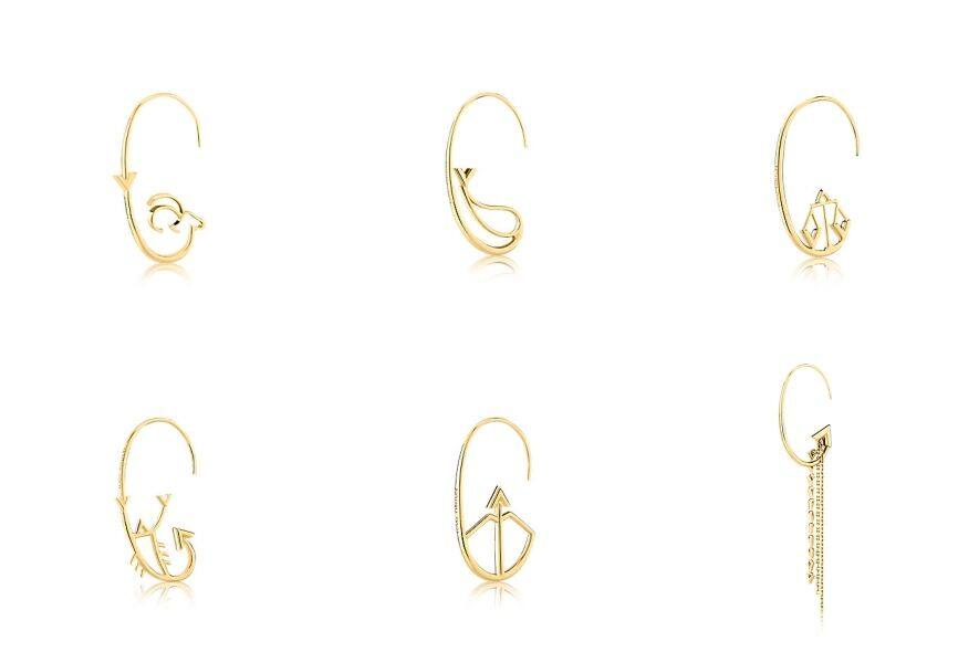Louis Vuitton Earrings LV星座耳環