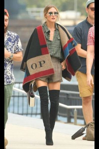 Burberry, 斗篷, 時裝, fashion, Olivia Palermo
