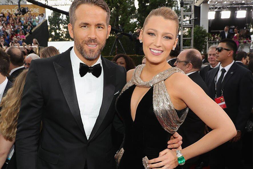 Blake Lively, Ryan Reynolds , Golden Globes 2017, Red Carpet, 紅地毯, 禮服