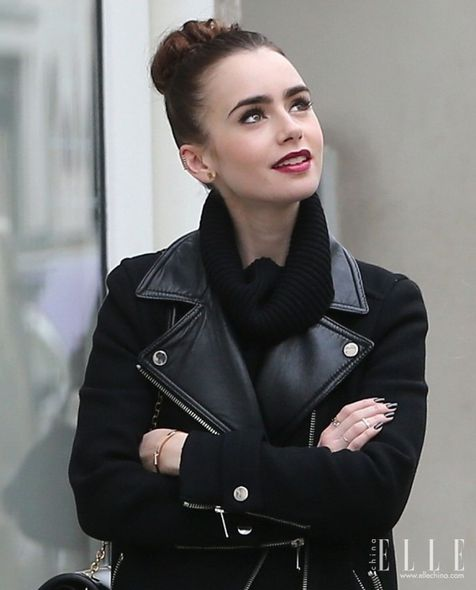 Lily Collins,穿搭,配搭,style