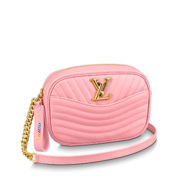 LOUIS VUITTON,NEW WAVE粉色相機手袋,約HKD15868