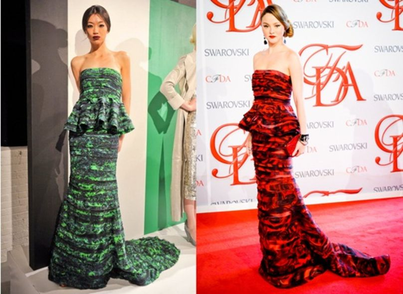 2012 CFDA Fashion Awards:媽媽級名模 Devon Aoki 「浪漫少女 look」踏紅地毯