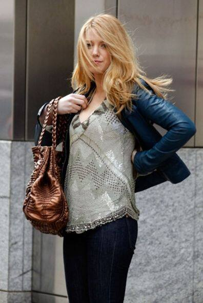 Blake Lively wearing the Bally SS 09 top