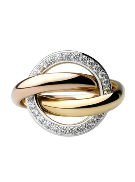 Cartier Trinity ring in 3 gold bands fashion accessories