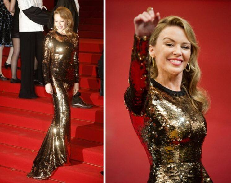 Cannes Best Dressed: Kylie Minogue 閃亮「S 造型」性感現身