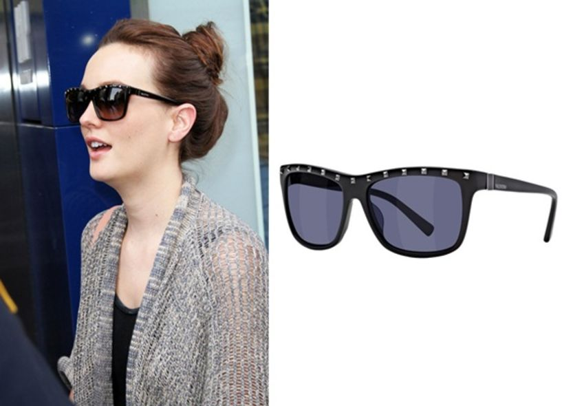 Shop Her Look:Leighton Meester 鍋釘太陽鏡