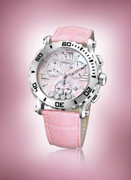 Chopard Happy Sport Chrono in pink