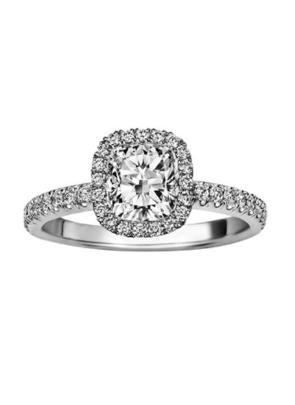 De Beers Aura Cushion Ring