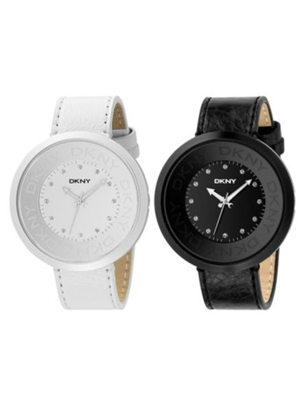 DKNY black and white fashion accessories watches summer collection