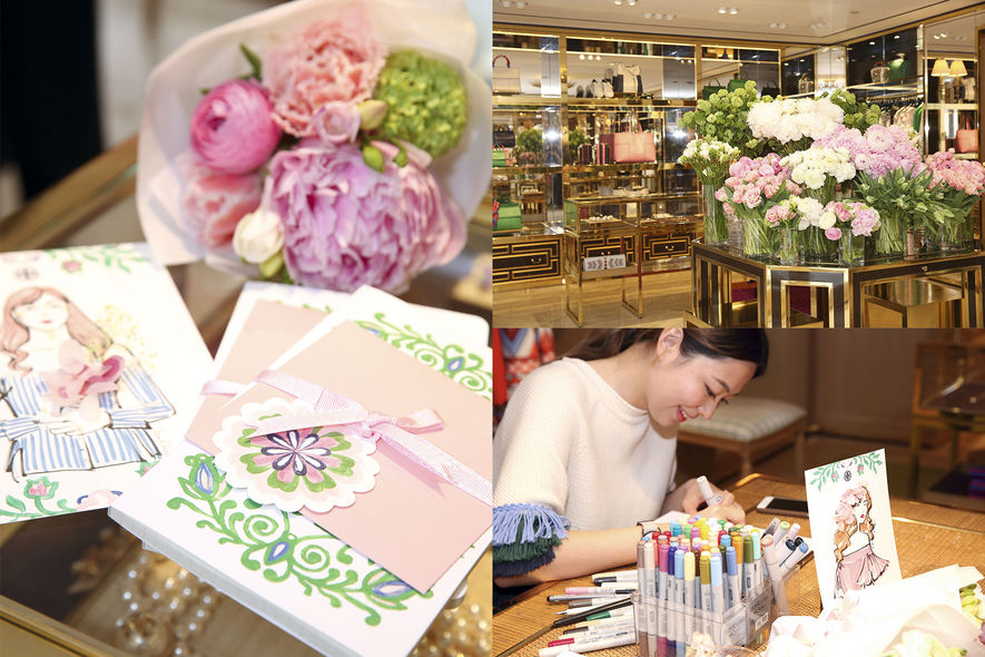 ELLE, Tory Burch, Mother's Day Flower Workshop