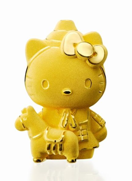 fashion accessories hello kitty gold
