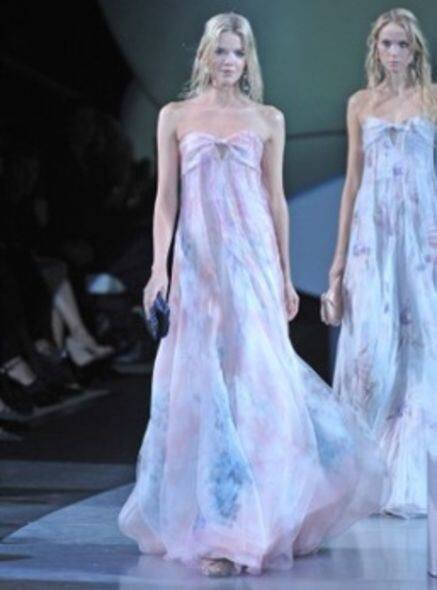 Giorgio Armani 09 ss runway chiffon dress