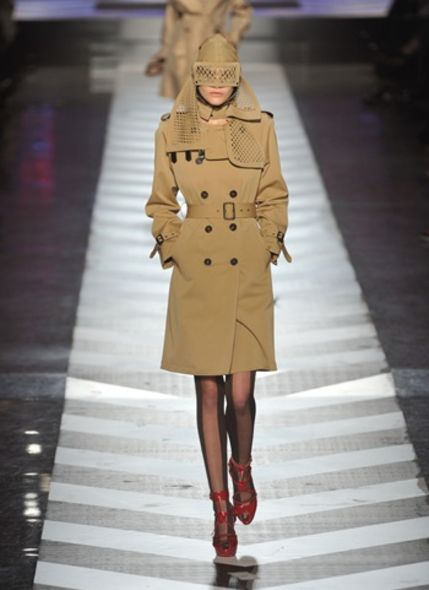 Jean Paul Gaultier Hermes trench coat fashion trend
