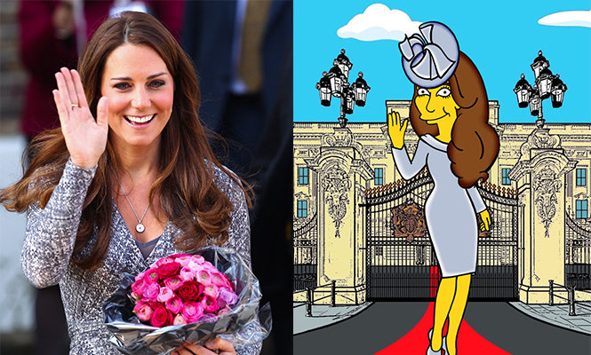 Kate Middleton 凱特王妃 The simpsons AleXsandro Palombo