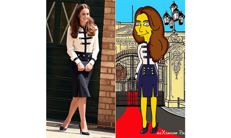 Kate Middleton, 凱特王妃, The simpsons, AleXsandro Palombo