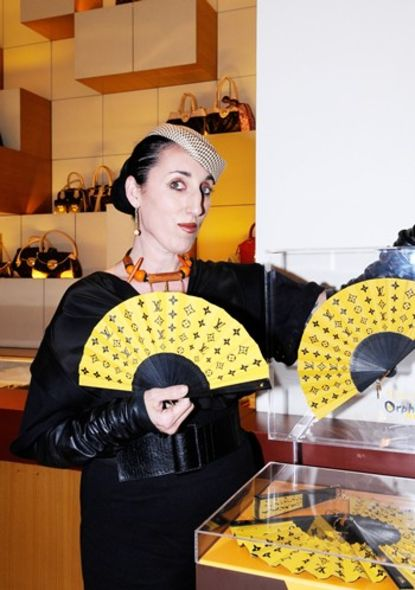 Louis Vuitton Fan Rossy de Palma Orphanaid Africa charity fan