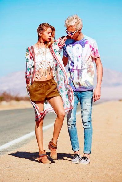 Lucky Blue Smith, Gigi Hadid, Coachella, Fashion, 時裝