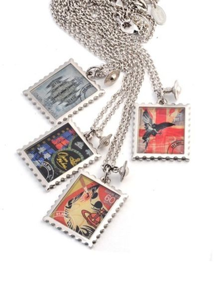 Vivienne Westwood Stamp Pendant Collection fashion acessories