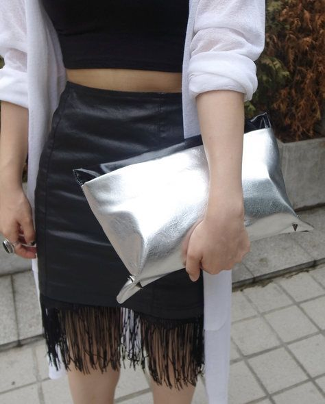 Ktrend, 街拍, street snap, 韓國時裝, Korean Fashion, clutch, 手提包