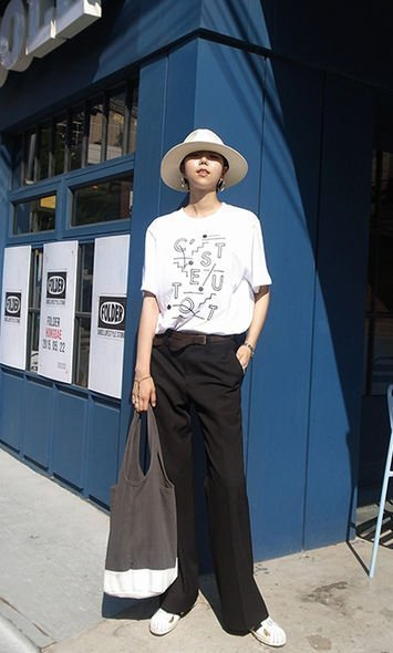 Ktrend , 街拍, street snap, 韓國時裝, Korean Fashion, 草帽