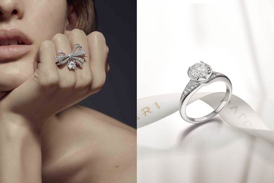 Chaumet, Bulgari diamond ring 鑽石戒指