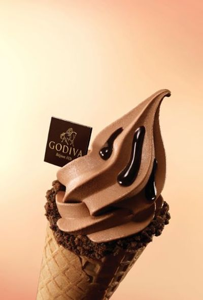 GODIVA Chocolate Soft Serve (朱古力軟雪糕) HK$45
