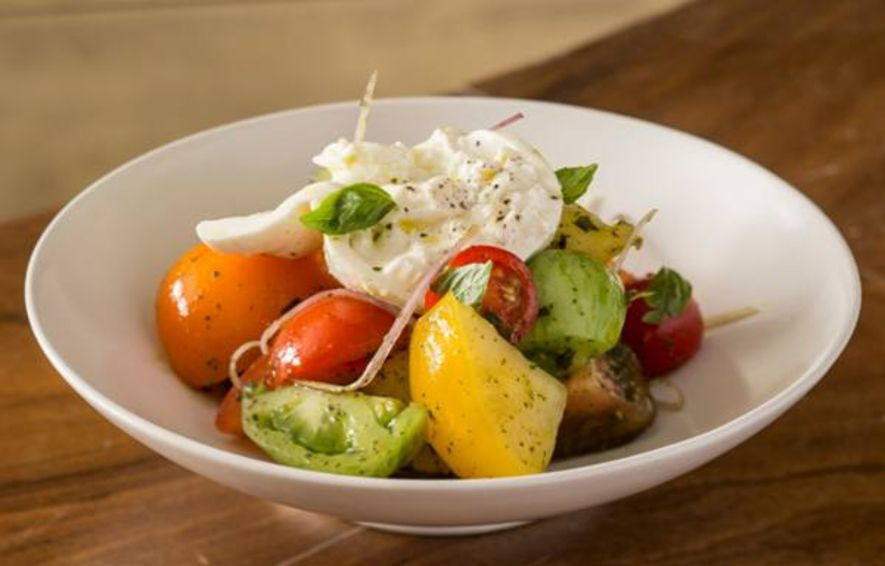 Heritage Tomatoes, Burrata Cheese, Pesto, Shallots $118
