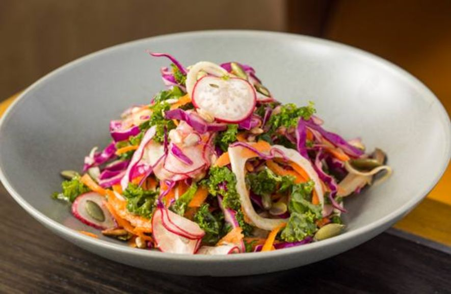 Kale, Red Cabbage, Shaved Fennel, Sunflower And Pumpkin Seeds, White Balsamic Dressing $118