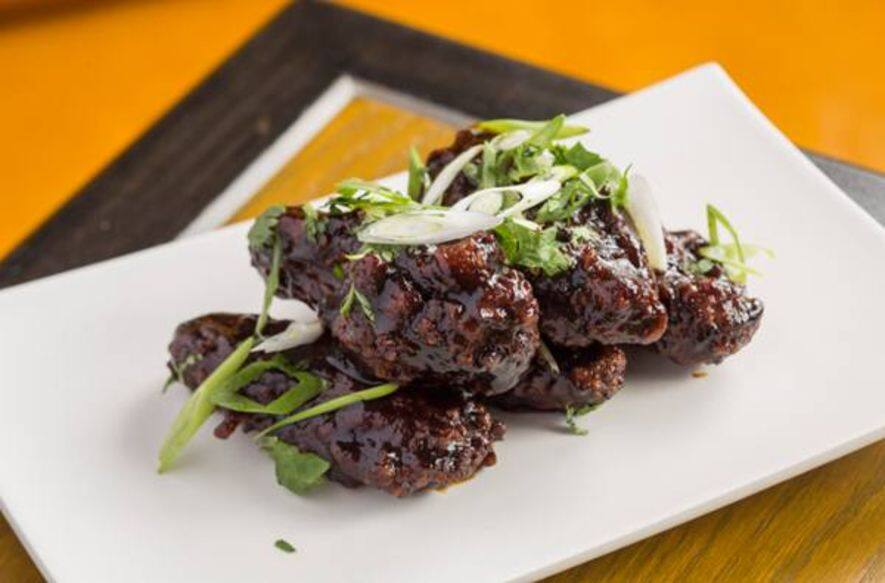 Tamarind Spiced Chicken Wings, Spring Onions, Coriander $128