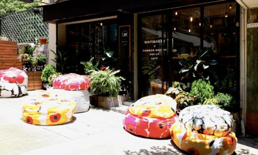簡單而繽紛!Marimekko Unikko X Common Ground Pop Up Cafe